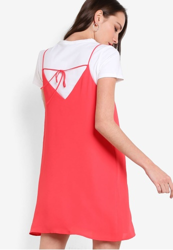 TOPSHOP red Roleau Slip Dress TO412AA74TGFMY_1