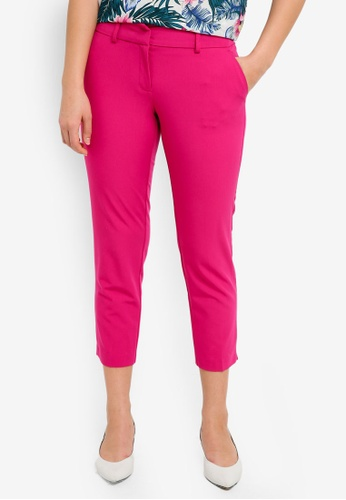 Dorothy Perkins pink Petite Magenta Naples Ankle Pants CBD3EAAAD0A75CGS_1
