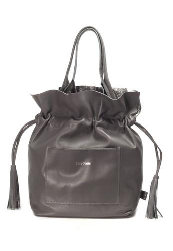 Shu Talk grey LISA CONTE Italian made Tassels Tote Bag EA99EAC0C7DE4DGS_1