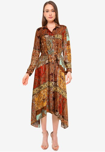 Desigual multi Metallic Print Shirt Dress B4827AAAAD64D7GS_1