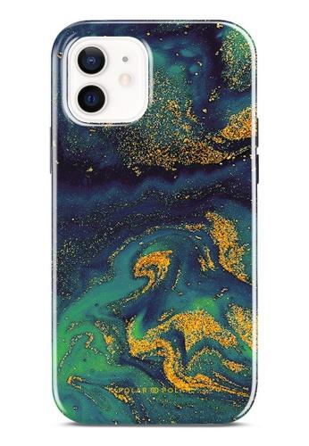 Polar Polar 綠色 午夜綠流沙紋雙層光面手機殼 iPhone 12 Pro / iPhone 12 E0234ACCB508B8GS_1