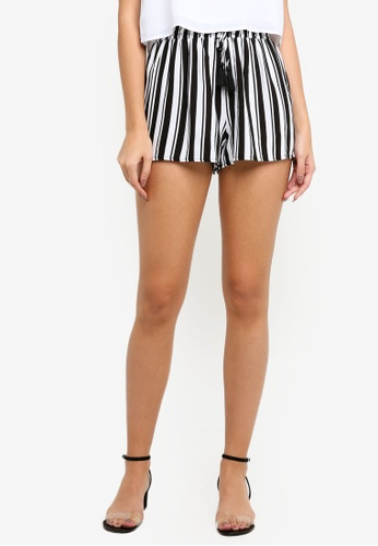 Supre black and white and multi Melrose Tie Front Shorts ADBBBAA3C24F1FGS_1