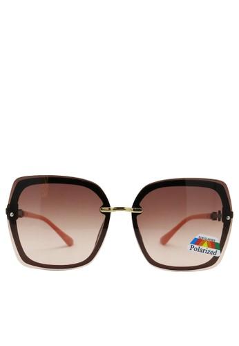 BALLIN bronze Kacamata  Wanita Polarized Rimless Sunglasses ZEST 12.4 6DFA2GLD9AA3D0GS_1