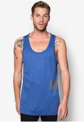 ZALORA blue Colourblock Tank Top ZA919AA93NNISG_1