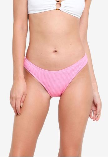 Hollister pink Rib Bikini Bottom 474A2US84121F4GS_1