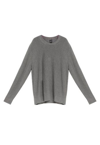GAP 灰色 Shaker Crew Sweater F609BAA3846A1BGS_1