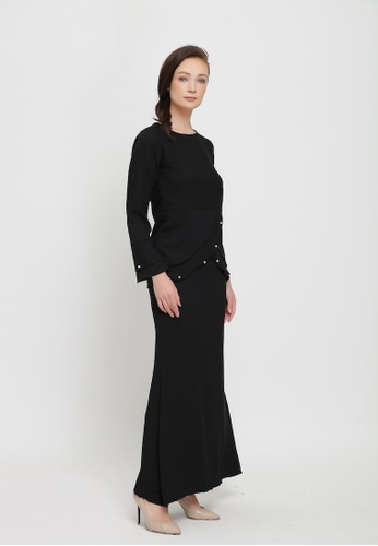 Sarimah Kurung from Colours Thread Clothing in Black