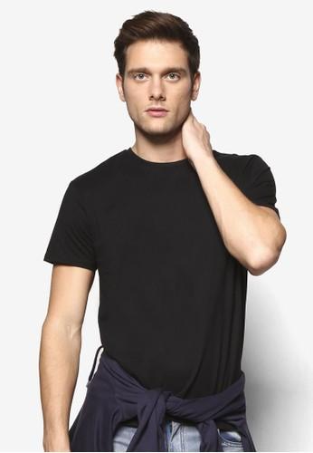 修身基本款圓領zalora時尚購物網的koumi koumiTEE, 服飾, T恤