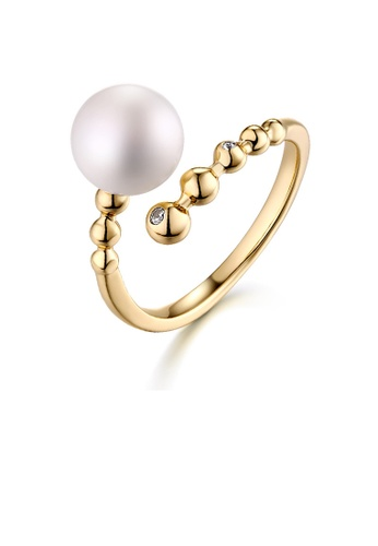 SUNSET gold Premium 925 Sliver Pearl Ring F9988ACC940F20GS_1