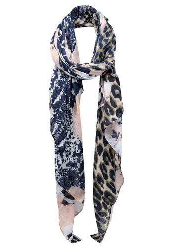 Pieces navy Lannica Long Scarf 2E59BAC8AB4656GS_1