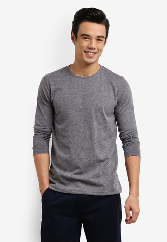 UniqTee 灰色 Basic Crew Neck Jumper UN097AA0RFV9MY_1
