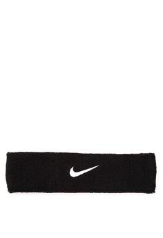Nike black and white Swoosh Headband NI126AC44CRJPH_1
