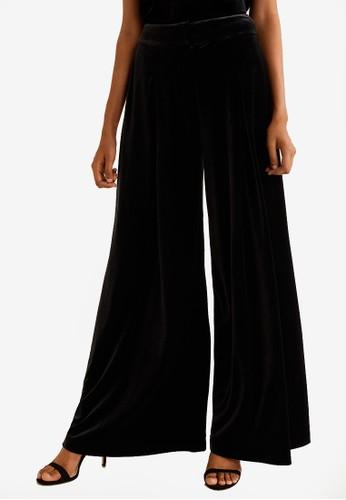 Mango black Velvet Palazzo Trousers 9DA8DAAE7D4F8AGS_1