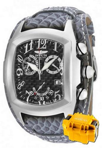INVICTA silver Invicta Lupah Men Swiss Quartz Chronograph 47mm Watch 90263 w/ Impact Case 0E46BACEA42464GS_1