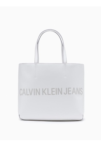 Calvin Klein white Logo Tote Bag 7B379ACEFDB8A9GS_1