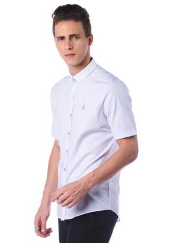 POLO HAUS blue Polo Haus - Short Sleeve Shirt (Light Blue ) PO783AA87JNSMY_1