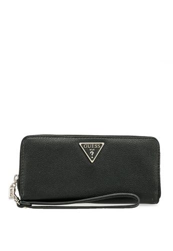 Guess black Sandrine Sling Large Zip Around Wallet 6F2CDAC750756FGS_1