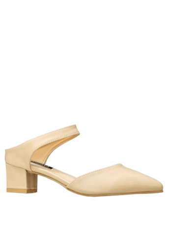 Twenty Eight Shoes beige Simple Mid Heel Shoes VL612 C4715SH2C4C9C6GS_1