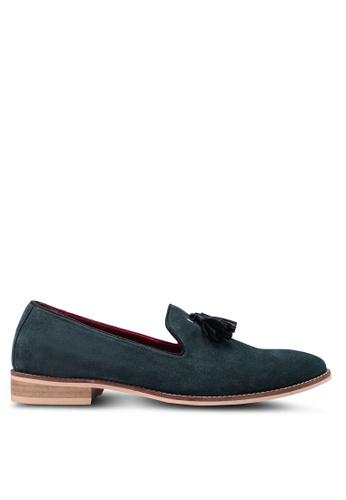 Acuto green Leather Tassel Loafers 3F4E1SH8E8C97FGS_1