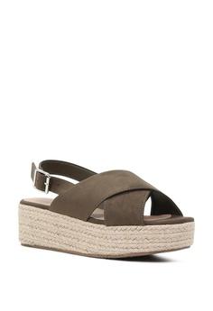207e152b05f4 London Rag Cross Strap Wedge Slingback Sandals Php 3