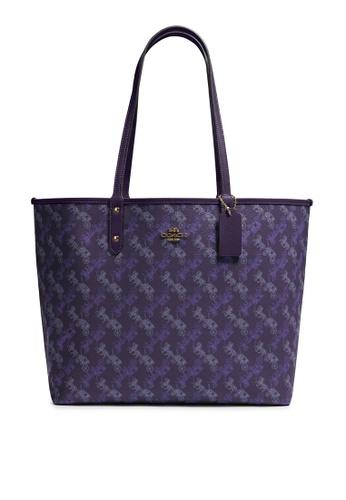 Coach purple Reversible City Tote Bag (cv) E45AEAC130D1F2GS_1