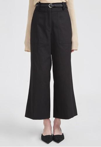 方形口袋闊腿褲, 服飾, 長褲esprit台灣官網及內搭褲