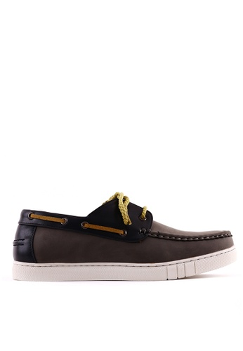7soles grey Steven MS Boat Shoes 7S266SH0JRZOPH_1