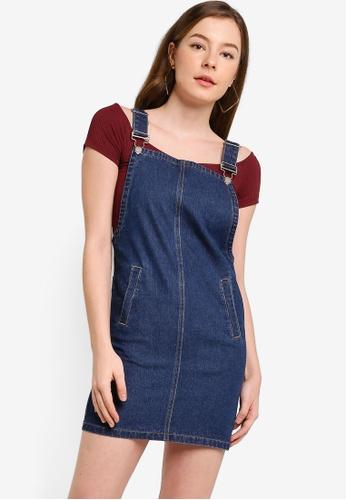 Something Borrowed blue Pinafore Denim Dress with Pockets 35041AA8CCA67FGS_1