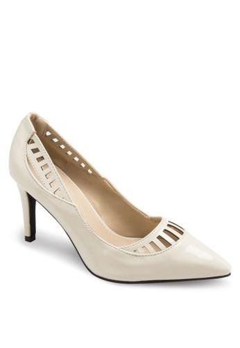 Resprit 請人uth 鏤空尖頭高跟鞋, 女鞋, 鞋