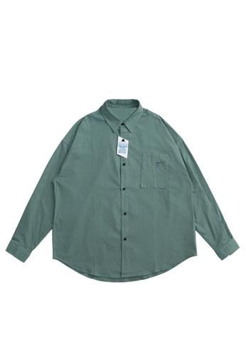 Twenty Eight Shoes Retro Frosted Fabric Long Shirt 2122W20 390F3AA6A8C31FGS_1