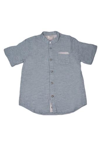 Giordano green Linen Boy's Shirt E5EB5KABDB9D36GS_1