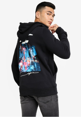 Hollister black Print Pullover Hoodie 4F71CAA498A446GS_1