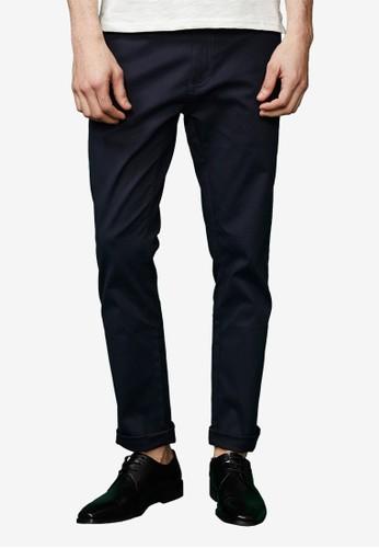 韓版修身。百搭彈esprit童裝門市力多色長褲-02314-深藍, 服飾, 直筒褲