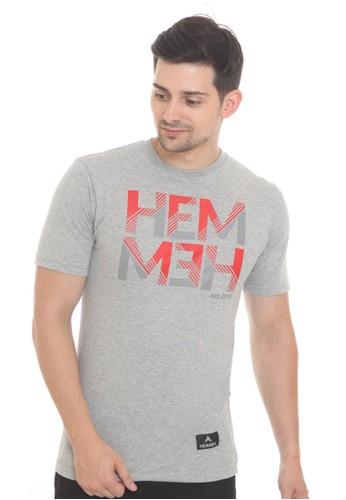 HEMMEH grey T-Shirt Abu Plain Hemmeh 394EDAA015EBC5GS_1
