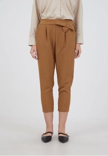 Berrybenka Label orange Sophie Godya Ribbon Pants Mustard 2C0F7AAD1B86D5GS_1