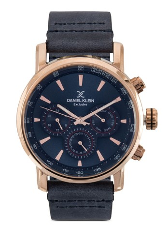 47mm DK11147-4 三顯示皮zalora 折扣碼革錶帶圓錶, 錶類, 飾品配件