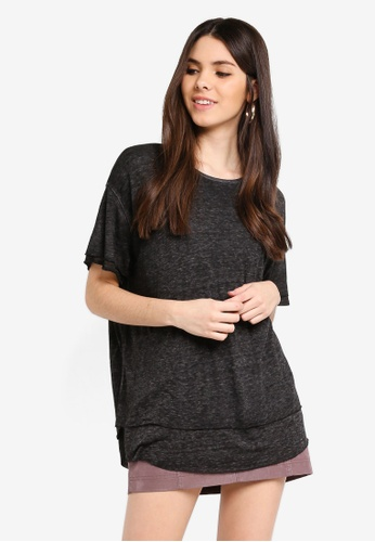 Free People grey Cloud 9 Tee AC01FAAF6B7902GS_1