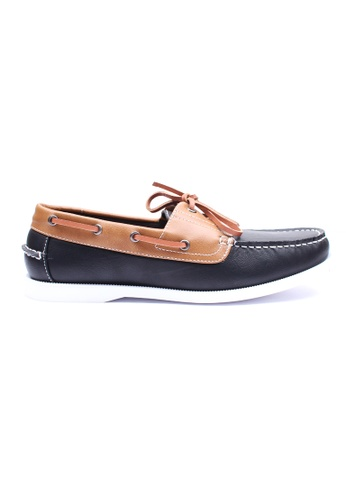 Moley black Duo Tone Boat Shoe MO329SH03EIASG_1