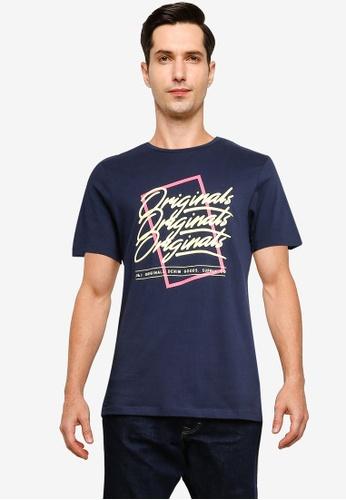 Jack & Jones navy Cody Short Sleeve T-Shirt 638C6AAE062FF0GS_1
