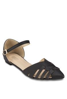 【ZALORA】 Amanda 尖頭繞踝平底鞋