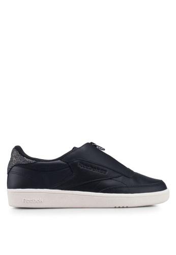 358ceb851c1 Reebok black Club C 85 Zip Sneakers 765CCSHE5E6EE2GS 1