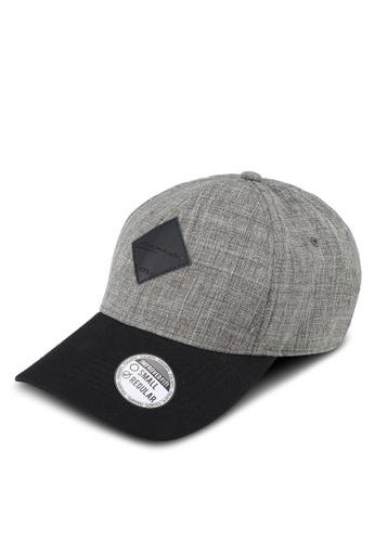 Penshoppe grey Varsity Baseball Cap With Patch Detail 61D4FAC26BF32FGS_1