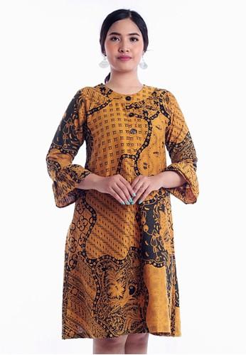 EAJA yellow Lakshita Dress Batik Wanita 7B961AAFBF739BGS_1