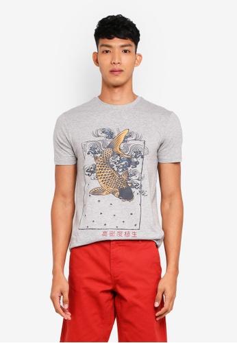 OVS 灰色 短袖印花T恤 A7CD6AA559E554GS_1