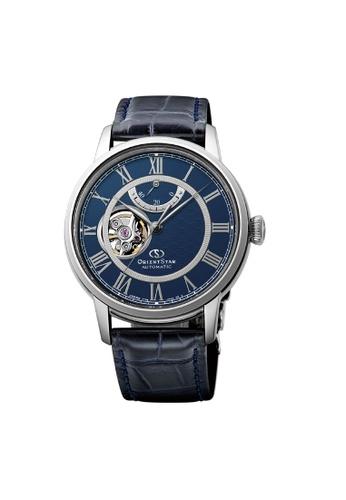 Orient blue Orient Star Mechanical ORRE-HH0002L Automatic Genuine Leather Watch 82240AC13B6C5CGS_1