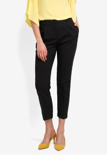 Dorothy Perkins black Regular Black Peg Trousers 8A845AA09B568DGS_1
