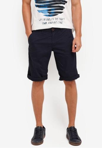 ESPRIT navy Woven Regular Shorts 9B476AA1A03D5CGS_1
