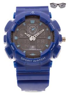 Chronograph Watch With Free Sunglasses JC-H1145C-SC-03