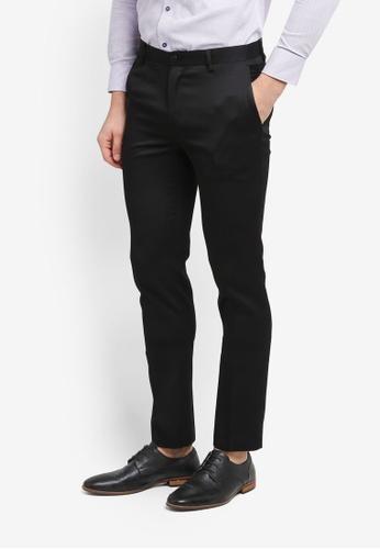 G2000 black Poly Textured Formal Ultra Slim Pants 79283AAA3ACF7CGS_1