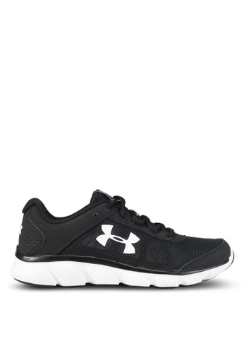 Under Armour black and white UA W Micro G Assert 7 Shoes UN337SH0SUACMY_1